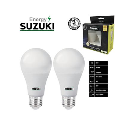 מארז 2 נורות LED 11W עבה E27 בצבעים לבחירה SUZUKI Energy - תמונה 2