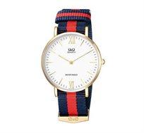 שעון יד אנלוגי אופנתי יוניסקס עמיד במים, נוח וקל משקל Q&Q QS-Q974J131Y תוצרת CITIZEN