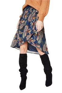 חצאית מעטפת - כחול נייבי