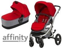 עגלת תינוק עם סל שכיבה אפיניטי Affinity Ii - אדום