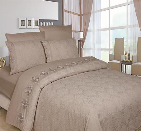 מערכת כלי מיטה זוגית שישה חלקים עשוי סאטן אל קמט - תמונה 2