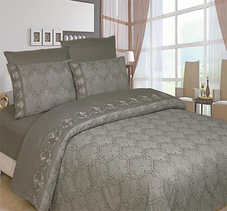 מערכת כלי מיטה זוגית שישה חלקים עשוי סאטן אל קמט - תמונה 3