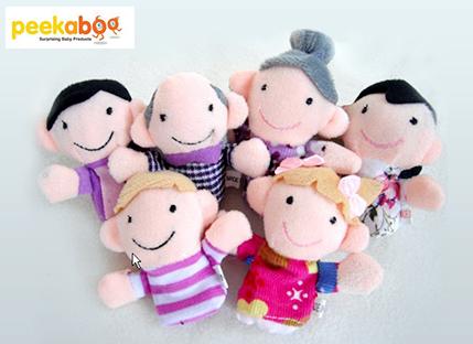 סט בובות אצבע משפחה