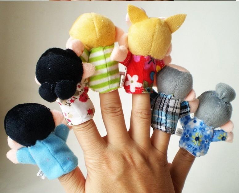 לכל המשפחה! סט בובות אצבע איכותיות המרכיבות משפחה שלמה: סבא, סבתא, אבא, אמא, אח ואחות, ב-₪35 בלבד! - תמונה 3