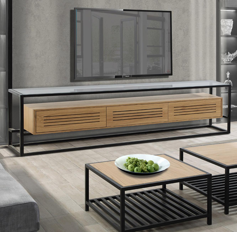 מזנון לסלון בעיצוב מודרני בעל שלוש מגירות דגם אטלנטיק