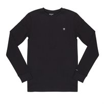 Replay חולצה ארוכה// L/S Crew Neck Small Logo Black