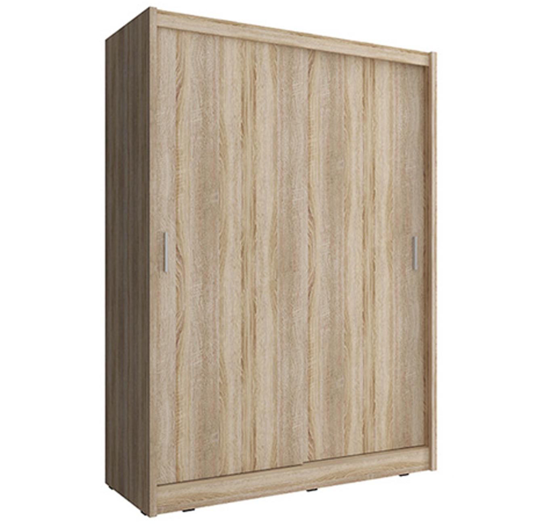 ארון בעל שתי דלתות הזזה בגוון אלון בעל מדפים ומקום לתלייה דגם סונומה HOME DECOR  - תמונה 2