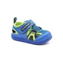 Tsukihoshi Baby Ibiza - נעלי צעד ראשון צוקיאושי בצבע כחולצהוב