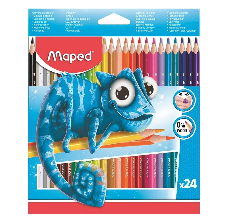 מארז הכולל 24 עפרונות צבעוניים