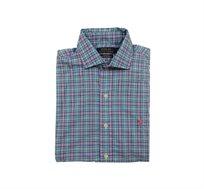 חולצה מכופתרת Polo Ralph Lauren Classic Fit - כחול ירוק תכלת ורוד