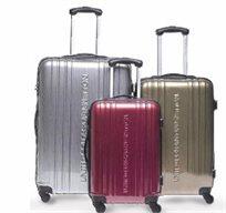 סט 3 מזוודות איטלקיות 4 גלגלים קשיחות בעיצוב מרהיב  BENETTON