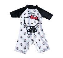 בגד ים הלו קיטי לתינוקות - שחור/לבן
