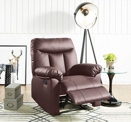 כורסא אורטופדית לטלוויזיה עם הדום לרגליים וגוף עץ
