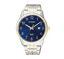 שעון משולב טוטון לגבר עם פלדת על חלד - זהב/כסוף
