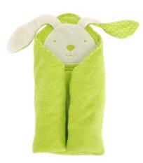מגבת עם קפוצ'ון 100% כותנה מסדרת Joy - ירוק