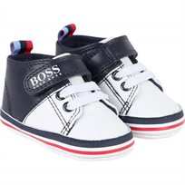 BOSS נעלי תינוקות(19-15) - כחול לבן