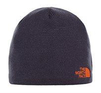 כובע צמר THE NORTH FACE בצבע כחול נייבי עם לוגו כתום