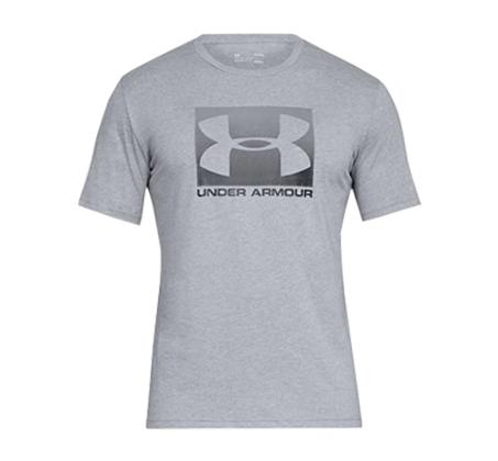 חולצת טי שרט עם הדפס Under Armour Boxed Sportstyle SS - אפור בהיר