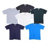 מארז 7 חולצות בית ספר לילדים ונוער - צבע לבחירה