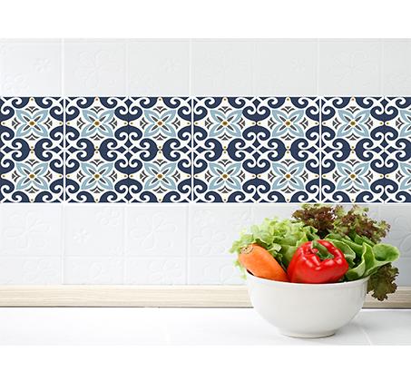 סט 4 מדבקות מעוצבות לקיר לקרמיקה מויניל לחדרי המטבח, אמבטיה, חדרי הבית ועוד במבחר דגמים - תמונה 7