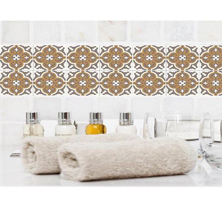 סט 4 מדבקות מעוצבות לקיר לקרמיקה מויניל לחדרי המטבח, אמבטיה, חדרי הבית ועוד במבחר דגמים - תמונה 3