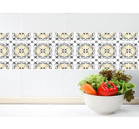 סט 4 מדבקות מעוצבות לקיר לקרמיקה מויניל לחדרי המטבח, אמבטיה, חדרי הבית ועוד במבחר דגמים - תמונה 4