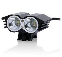 פנס לד מקצועי לרוכבי אופניים עמיד בגשם עם עוצמת תאורה עד 4000 לומן, 2 נורות לד ו-4 מצבי תאורה