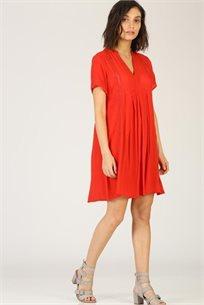 שמלה  עיטור קרושה עדין - אדום - CUBiCA
