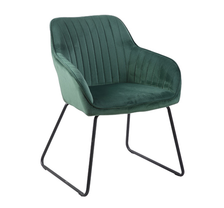 ספה מעוצבת עם רגלי מתכת דגם מרילנד ירוק