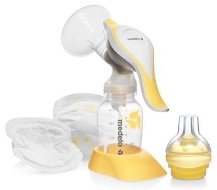 משאבת חלב ידנית הרמוני + 4 רפידות הנקה חד פעמיות