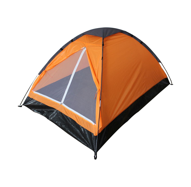 אוהל BASIC המתאים ל-2 אנשים בעל כניסה רחבה הכוללת רשת נגד יתושים CAMPTOWN - משלוח חינם - תמונה 2