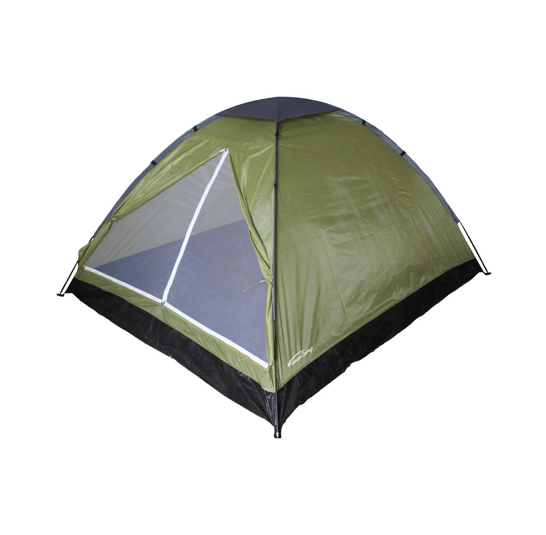 אוהל BASIC המתאים ל-2 אנשים בעל כניסה רחבה הכוללת רשת נגד יתושים CAMPTOWN - משלוח חינם - תמונה 3