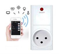 שקע חכם נייד Wi-Fi לשליטה מהסמארטפון כולל טיימר כיבוי והדלקה,שעון שבת, ומד הספק WATT