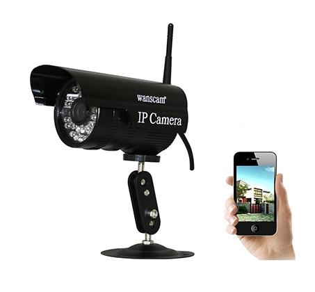 מצלמת אבטחה IP HD WANSCAM עם אינפרא אדום שליטה והקלטה מטלפון או מחשב