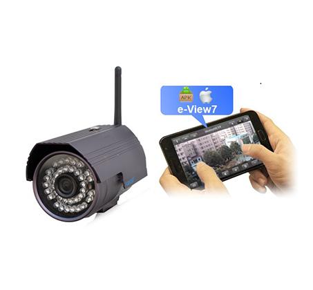 מצלמת אבטחה IP HD ממוגנת אלחוטית WANSCAM עם אינפרא אדום לתנאי חוץ קשים לצפייה בחושך  - משלוח חינם - תמונה 2