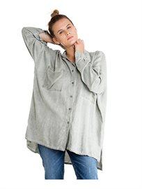 חולצת טוניקה גברית לנשים בצביעת טאי דאי בצבע חאקי