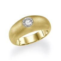 """טבעת אירוסין זהב צהוב """"אריקה""""  0.51 קראט  העטוף בזהב גולמי"""