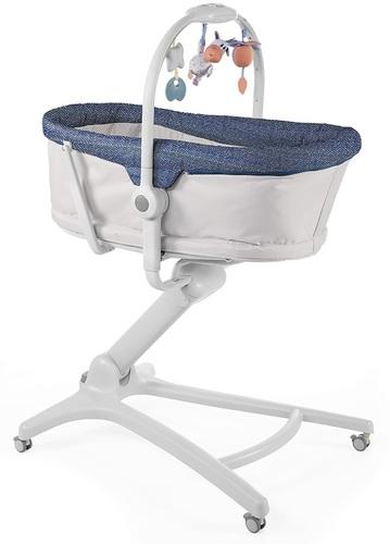 עריסה משולבת עם טרמפולינה וכיסא האכלה Baby Hug 4 In 1 - אפור/ג'ינס Spectrum
