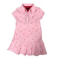Tommy Hilfiger שמלה (18 חודשים- 2 שנים) - ורוד לבבות
