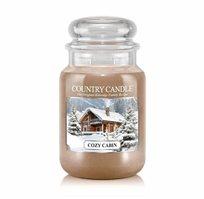"""נר ריחני בצנצנת בניחוח Cozy Cabin תוצרת ארה""""ב COUNTRY CANDLE"""