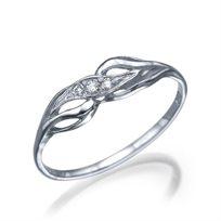 """טבעת יהלומים """"קים"""" בעיצוב עדין ויוקרתי עשוייה זהב ויהלומים 100%"""
