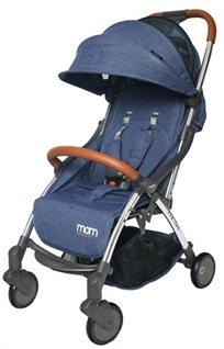 טיולון קומפקטי לתינוק עם קיפול אוטומטי Tik Tak - ג'ינס כחול