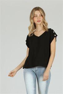 חולצה באטנס שחור