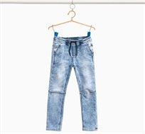 מכנסי ג'ינס OVS ארוכים לילדים מבד סטרץ' עם אפקט מכובס - Light Wash