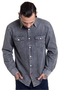 חולצת ג'ינס מכופתרת SUPPLY בצבע שחור וואש