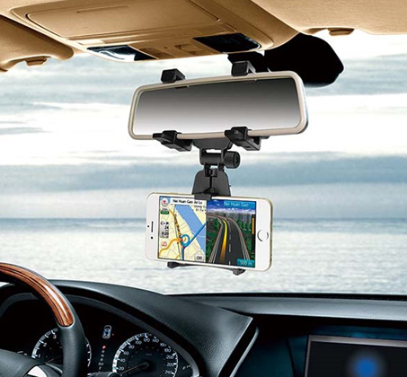 """מעמד לרכב """"מחזיק מראה"""" לטלפון הנייד"""