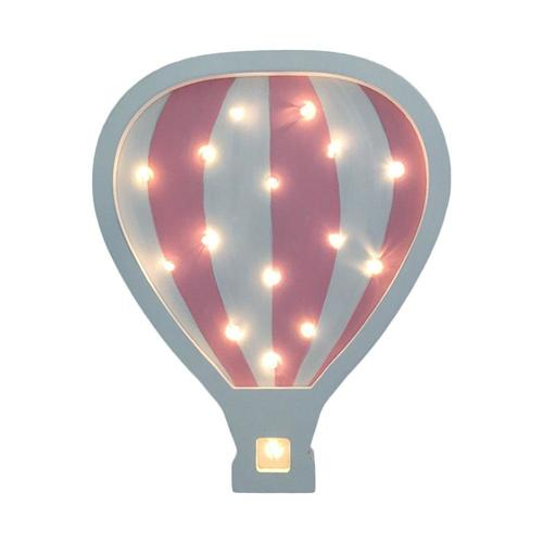 מנורת לילה מעוצבת ענן לחדר ילדים - כדור פורח ורוד/לבן