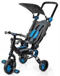 תלת אופן קומפקטי מתקפל גלילאו Galileo Strollcycle עם השכבה - שחור/כחול