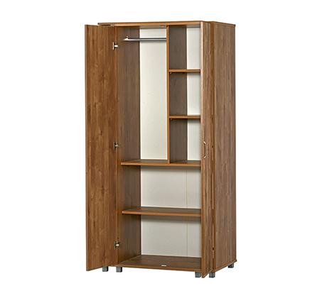ארון מרובה מדפים ומקומות איחסון עם 2 דלתות במגוון צבעים לבחירה - תמונה 2