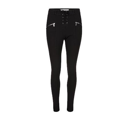 מכנסיים צמודים לנשים בסגנון טייץ MORGAN - שחור